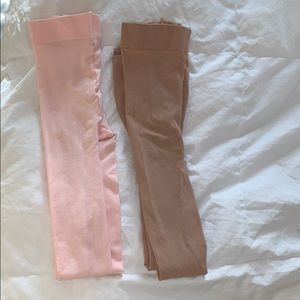 Ballet pink and caramel capezio dance tights